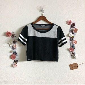 Black/White Cropped Top